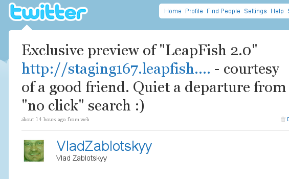 LeapFish 2.0 Claims To Solve The Real Time Search. But Will They Survive Beyond 2009?