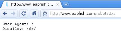 LeapFish.com robots.txt