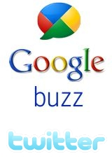 Google Buzz and Twitter Logos
